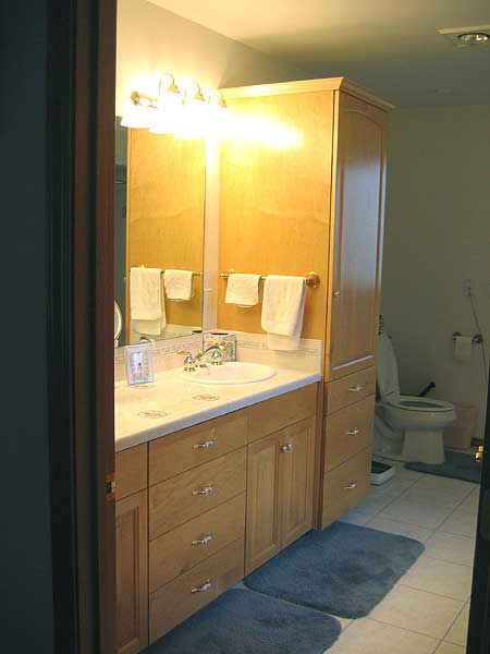 maple bathroom vanity cabinets and storage
